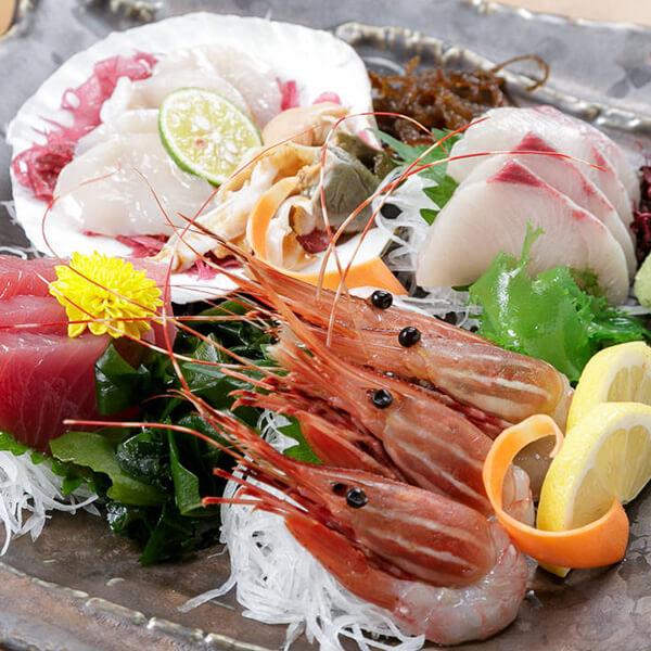 産地直送の厳選鮮魚を満喫